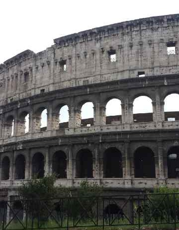 View of the Roman Colosseum as we drove out of the city...